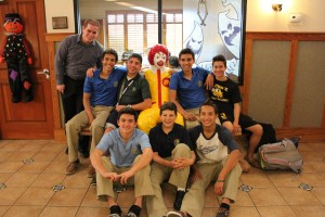Lasallian Youth serving at the Ronald McDonald House