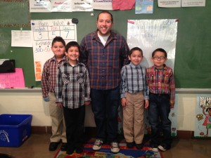 Zach with his students